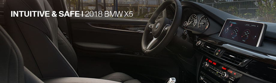 Safety features and interior of the 2018 BMW X5 - available at Hilton Head BMW near Irmo and Columbia, SC