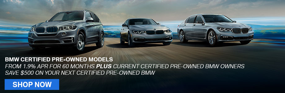 BMW Certified Pre-Owned Models From 1.9% APR For 60 Months