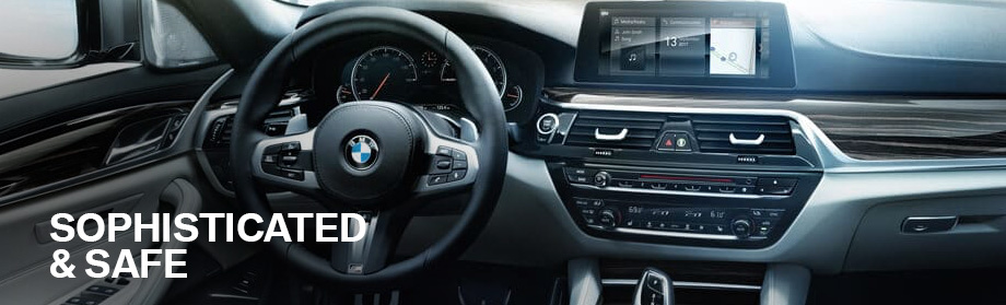 Safety features and interior of the 2018 5 Series - available at BMW of Columbia near Lexington and Irmo, SC