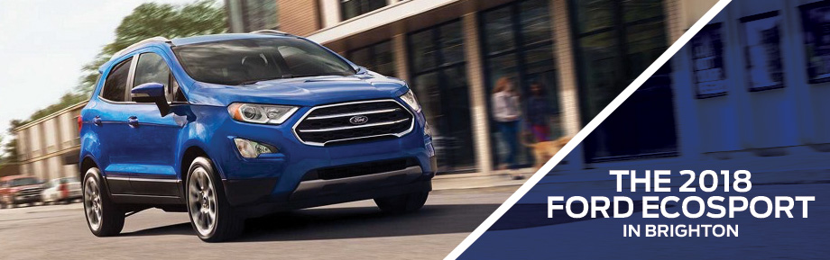 The 2018 Ford EcoSport is available at Brighton Ford near Denver