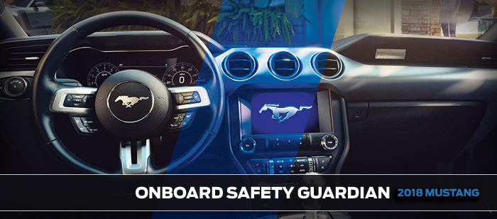 Safety features and interior of the 2018 Mustang - available at Brighton Ford Dealership Denver near Thornton