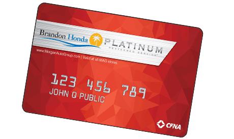 Get a platinum card for Honda credit card