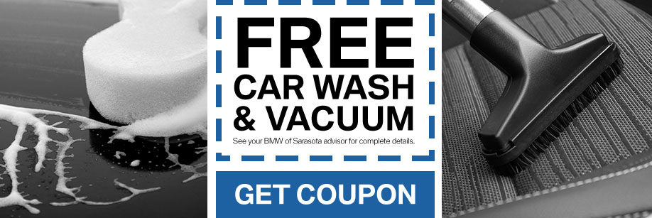 Coupon for free carwash and vacuum service