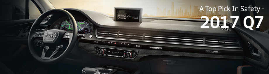 Safety features and interior of the 2017 Q7 - available at Audi Clearwater near St. Petersburg and Tampa
