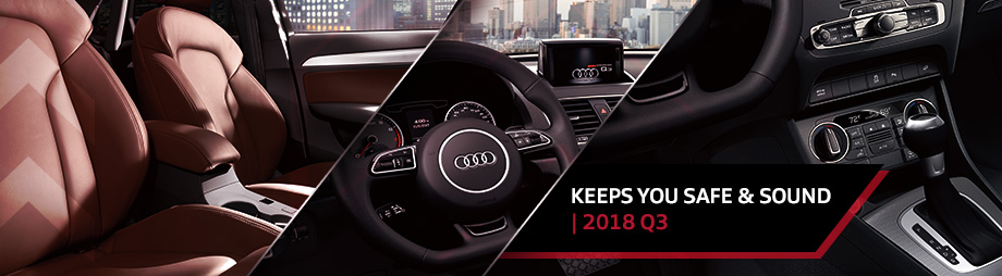 Safety features and interior of the 2018 Q3 - available at Audi Clearwater near Tampa and St. Petersburg