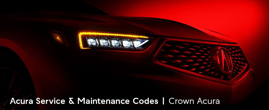 what do acura service maintenance codes mean crown acura blog