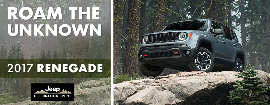 The 2017 Renegade is available at Crown CDJR of Cleveland near Athens