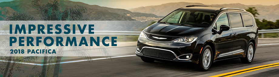 Exterior of the 2018 Chrysler Pacifica at Crown Chrysler Dodge Jeep Ram of Dublin near Columbus, OH