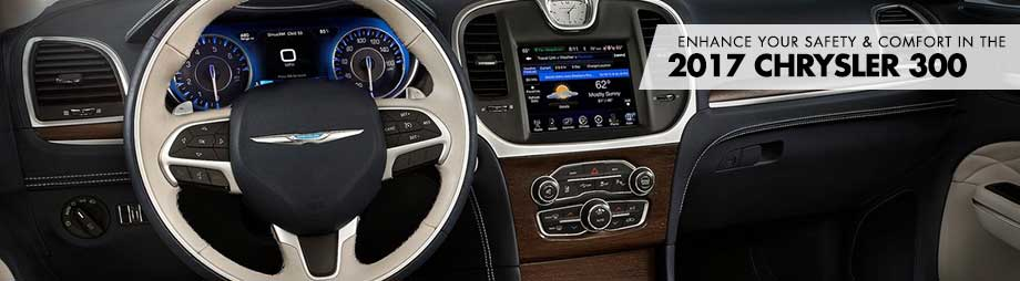 Safety features and interior of the 2017 300 - available at Crown Chrysler Dodge Jeep Ram of Dublin near Delaware, OH
