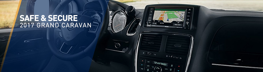 Safety features and interior of the 2017 Grand Caravan - available at Crown Chrysler Dodge Jeep RAM of Dublin near Columbus and Delaware