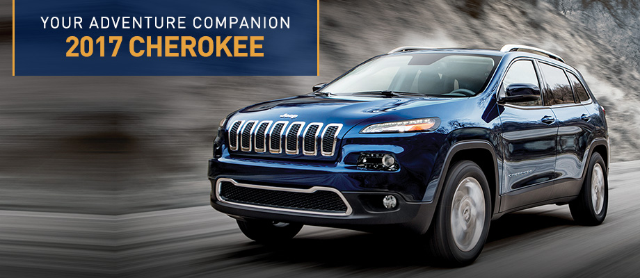 The 2017 Cherokee is available at Crown Chrysler Dodge Jeep RAM of Dublin near Columbus