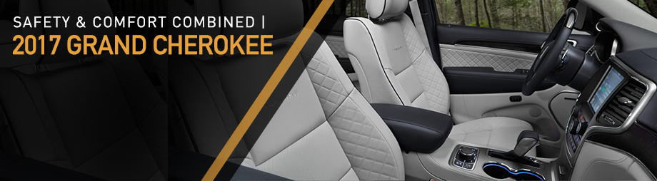 Safety features and interior of the 2017 Grand Cherokee - available at Crown Chrysler Dodge Jeep RAM of Dublin near Columbus and Delaware