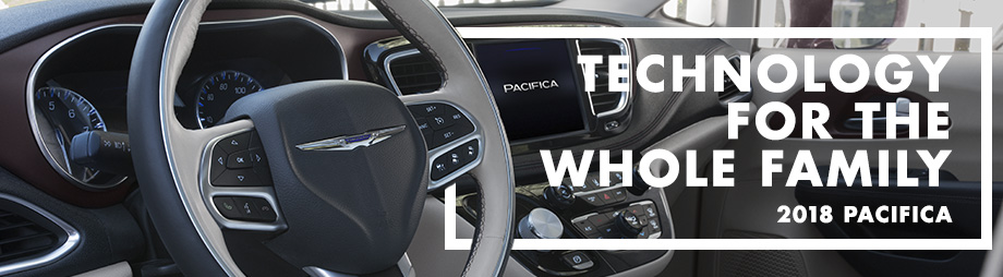 Safety features and interior of the 2018 Chrysler Pacifica - available at Crown Chrysler Dodge Jeep Ram of Dublin near Columbus and Delaware