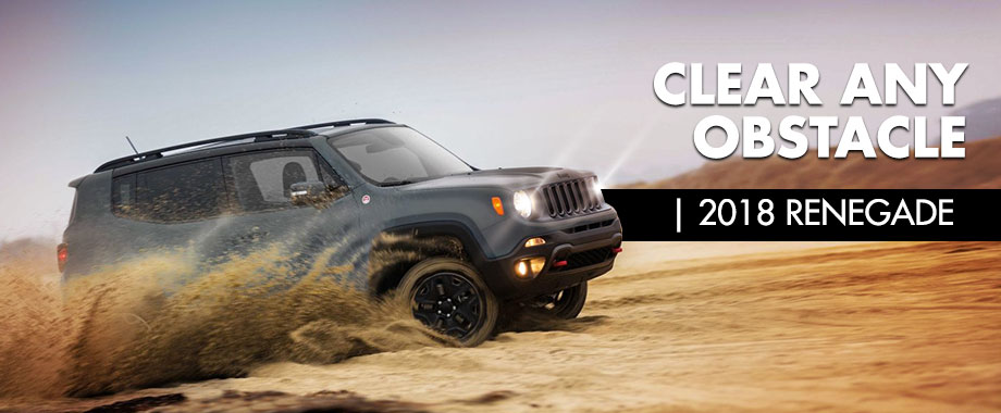 Exterior of the 2018 Jeep Renegade at Crown Chrysler Dodge Jeep Ram of Chattanooga near Ringgold, GA