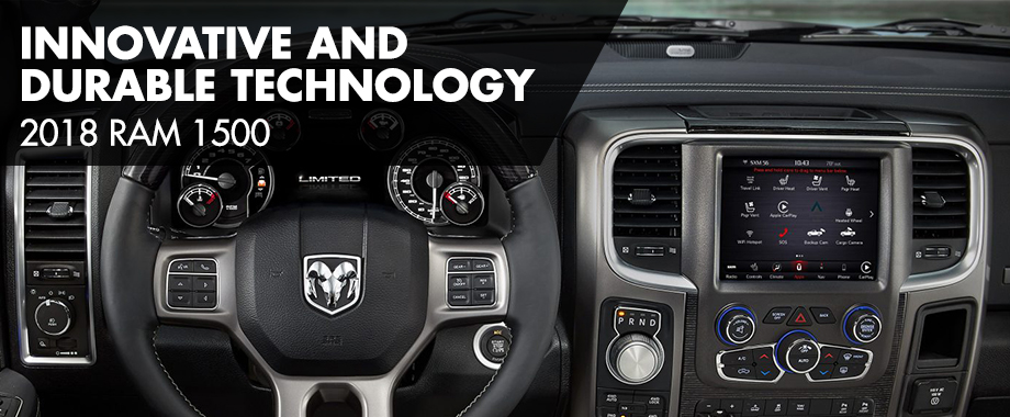 Safety features and interior of the 2018 Ram 1500 - available at Crown Chrysler  Dodge Jeep Ram near Soddy-Daisy and East Ridge, TN