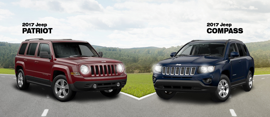 The 2017 Patriot  and 2017 Compass are available at Crown Chrysler Dodge Jeep Ram of Chattanooga near East Ridge, TN