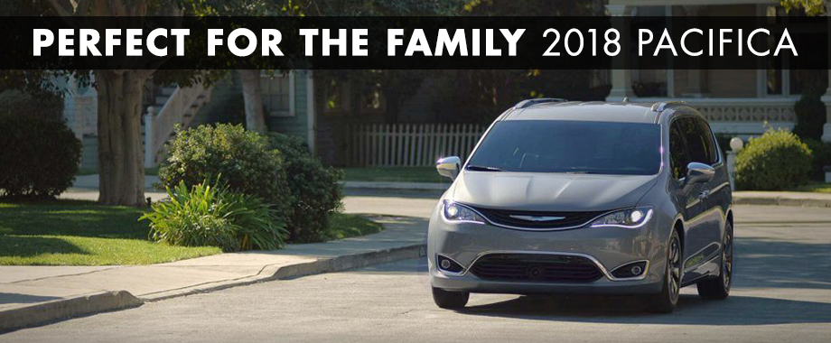 Exterior of the 2018 Chrysler Pacifica at Crown Chrysler Dodge Jeep RAM ofChattanooga near Ringgold, GA