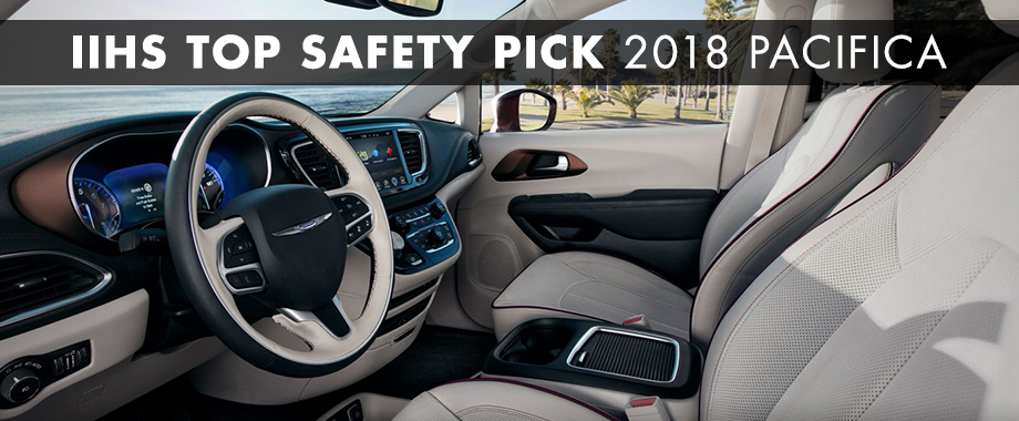 Safety features and interior of the 2018 Chrysler Pacifica - available at Crown Chrysler Dodge Jeep RAM of Chattanooga near Soddy-Daisy and East Ridge, TN