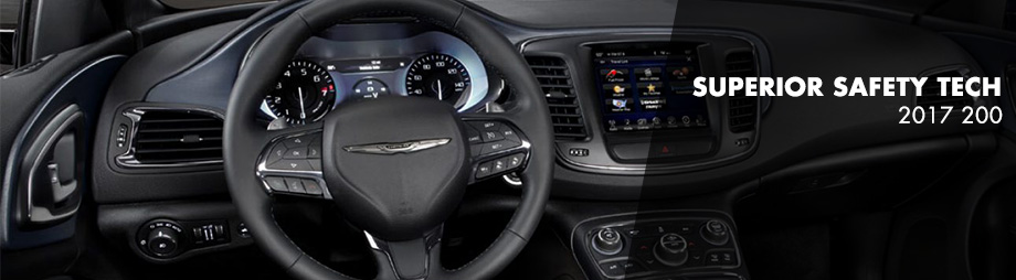 Safety features and interior of the 2017 200 - available at Crown Chrysler Dodge Jeep Ram of Chattanooga near East Ridge and Ringgold