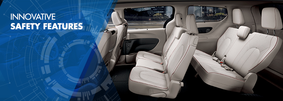 Safety features and interior of the 2017 Chrysler Pacifica - available at Crown CDJR of Chattanooga near East Ridge and Soddy-Daisy, TN