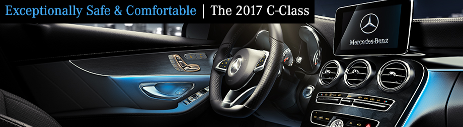 Safety features and interior of the 2017 C-Class - available at Crown Eurocars in St. Petersburg near Tampa, FL