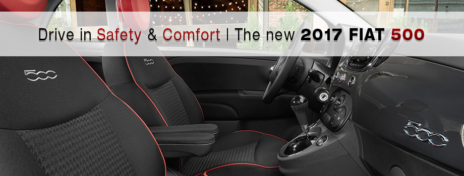 Safety features and interior of the 2017 500 - available at Crown FIAT of Chattanooga near Athens and Sparta, TN