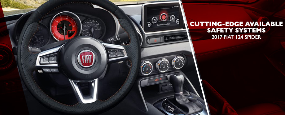 Safety features and interior of the 2017 124 Spider - available at Crown FIAT of Dublin near Columbus and Springfield, OH
