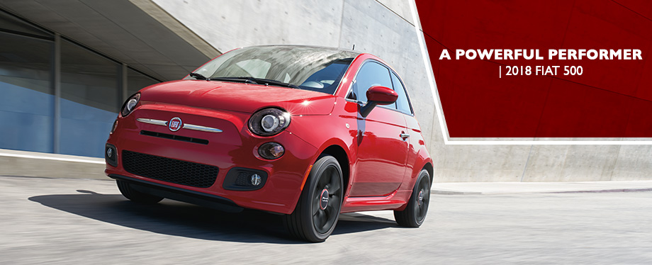 Exterior of the 2018 FIAT 500 at Crown FIAT of Dublin near Columbus, OH