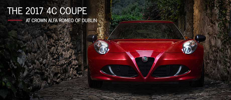 The 2017 4C Coupe is available at Crown Alfa Romeo of Dublin near Columbus