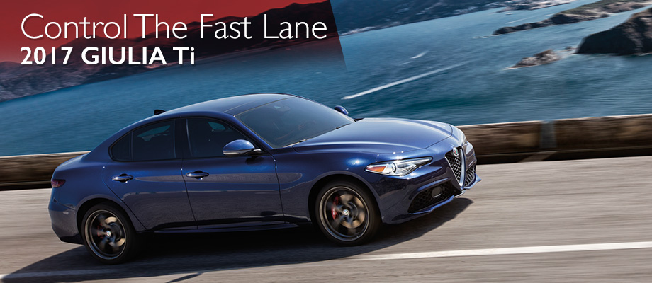 The 2017 Giulia Ti is available at Crown Alfa Romeo of Dublin near Columbus