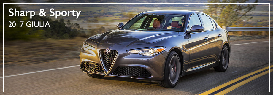 Exterior of the 2017 Giulia at Crown Alfa Romeo near Columbus, OH