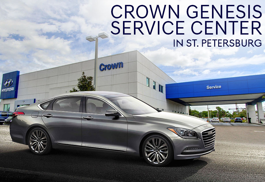 The Crown Genesis service center in St. Petersburg, near Clearwater, and Tampa, FL