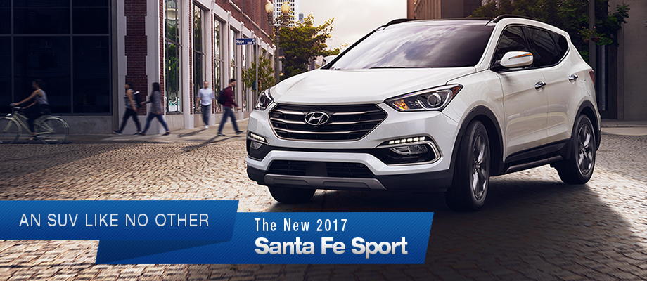 The 2017 Santa Fe Sport is available at Crown Hyundai near Clearwater and New Port Richey
