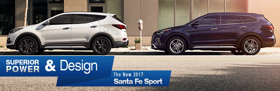 Exterior of the 2017 Santa Fe Sport at Crown Hyundai near New Port Richey