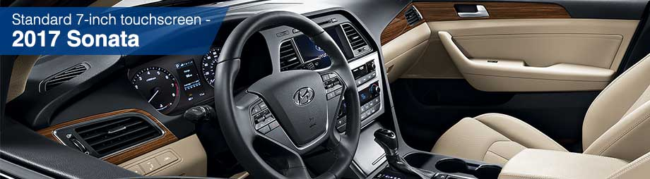 Interior and safety features of the 2017 Sonata at Crown Hyundai near New Port Richey