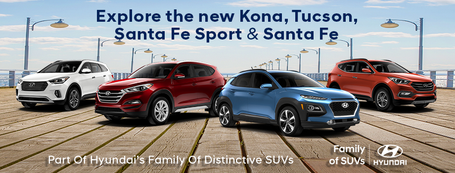 Explore the new Kona, Tucsan, Sante Fe Sports & Santa Fe