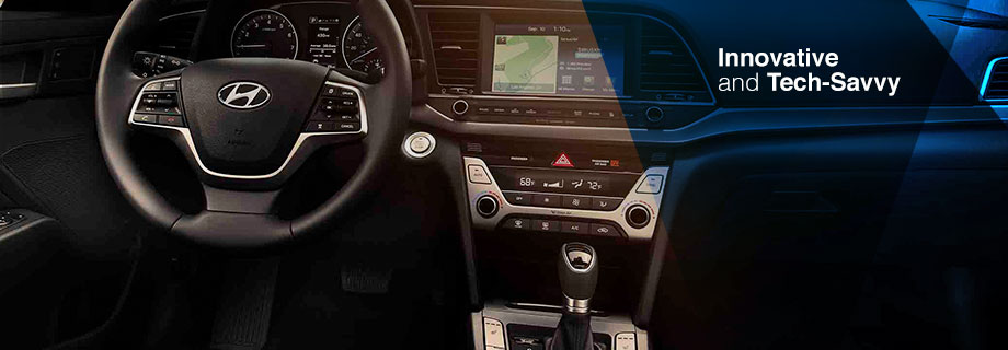 Safety features and interior of the 2017 Elantra - available at Crown Hyundai near Clearwater and Palm Harbor