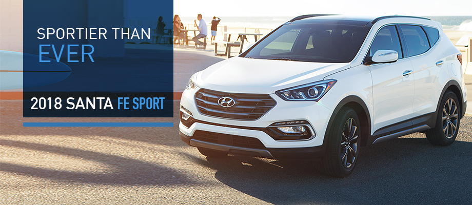 The 2018 Santa Fe Sport is available at Crown Hyundai near Palm Harbor
