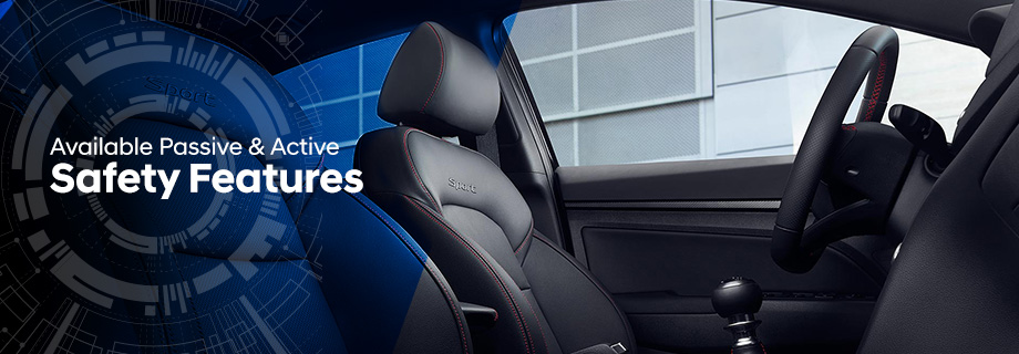 Safety features and interior of the 2018 Elantra - available at Crown Hyundai in St.  Petersburg near Clearwater