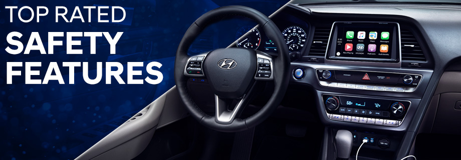 Safety features and interior of the 2018 Sonata - available at Crown Hyundai near Clearwater and Palm Harbor