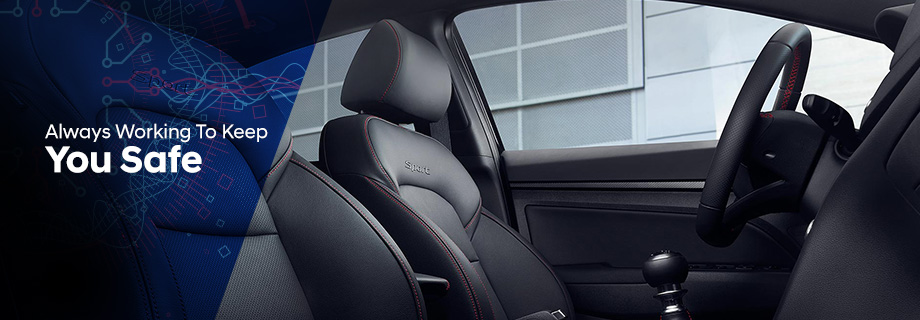 Safety features and interior of the 2018 Hyundai Elantra - available at Crown Hyundai near Clearwater and Palm Harbor