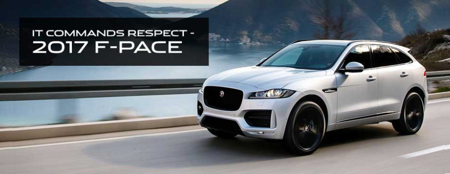 The 2017 F-PACE is available at Crown Jaguar near Tampa