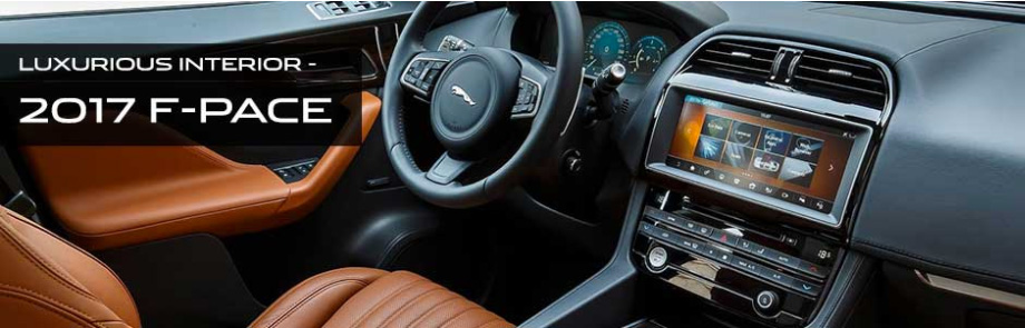 Technology features and interior of the 2017 F-PACE - available at Crown Jaguar near Clearwater and Palm Harbor