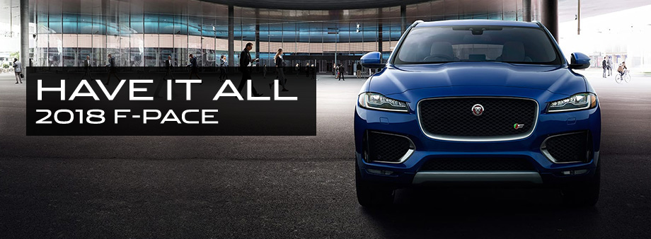 The 2018 F-PACE is available at Crown Jaguar near Clearwater