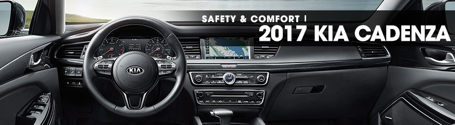 Safety features and interior of the 2017 Cadenza - available at Crown KIA of Dublin near Delaware, OH