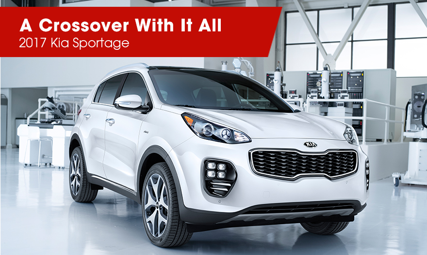 The 2017 Sportage is available at Crown Kia of Dublin near Delaware