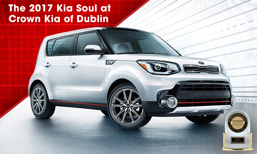 The 2017 Soul is available at Crown Kia of Dublin near Delaware and Springfield, OH