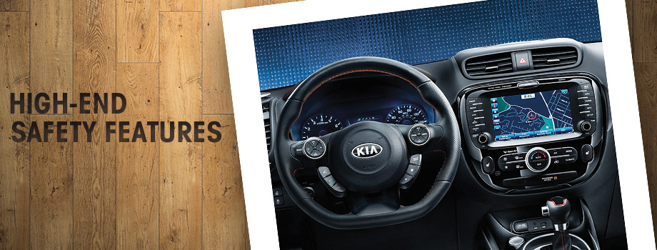 Safety features and interior of the 2017 Soul - available at Crown Kia of Dublin near Springfield and Delaware, OH
