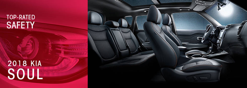 Safety features and interior of the 2018 Soul - available at Crown Kia of Dublin near Springfield and Delaware