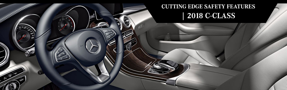 Safety features and interior of the 2018 C-Class - available at Crown Eurocars in Dublin near Columbus and Easton Town Center, OH